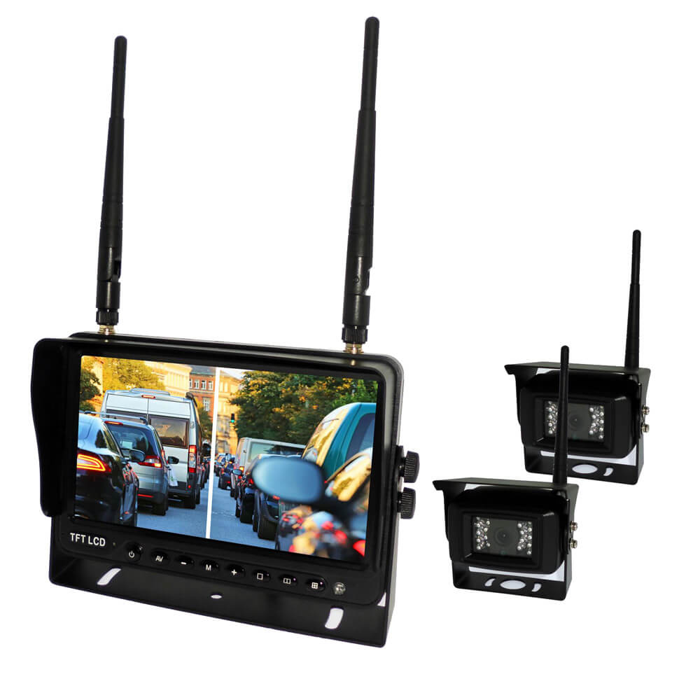 7 inch Wireless DVR quad monitor camera for Truck vehicle with AHD 1280 Night Vision HD Wifi Camera SD card Vcan1667 16