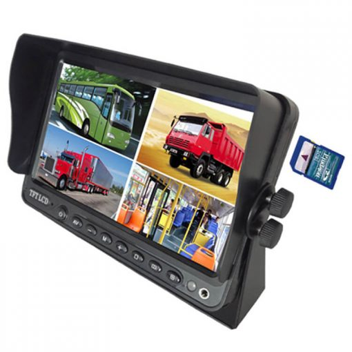 7 inch Wireless DVR quad monitor camera for Truck vehicle with AHD 1280 Night Vision HD Wifi Camera SD card Vcan1667 3
