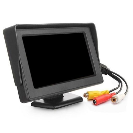 4.3 inch car Review monitor hd for parking reverse camera 2