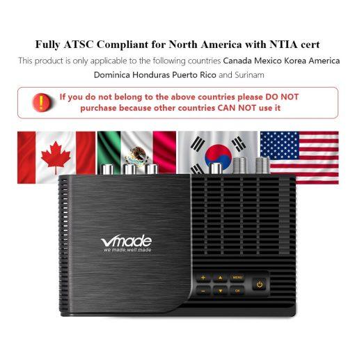 ATSC T terrestrial digital HD TV receiver work at USA Canada Mexico Korea tuner ATSC-T atsc t standard 5