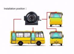 Mini IP camera Network Surveillance Automobile Real-Time Monitoring System Waterproof Car Backup Camera IP66 2MP Vcan1668 7