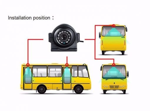Mini IP camera Network Surveillance Automobile Real-Time Monitoring System Waterproof Car Backup Camera IP66 2MP Vcan1668 4