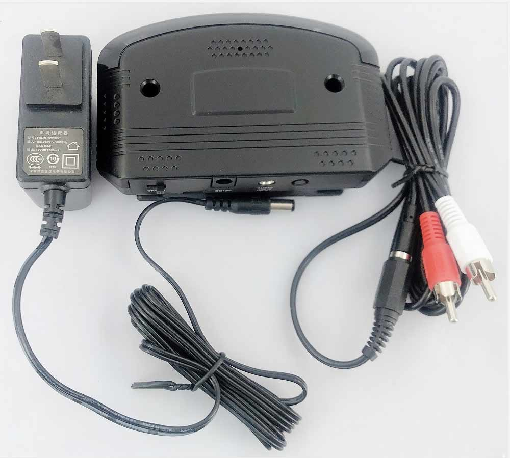 Wireless audio ir transmitter for headphone home power adapter