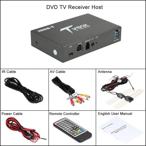 single antenna Car ISDB-T Digital TV Box HD fullSeg Receiver Mobile Digital TV Receiver for Brazil Chile Peru 7