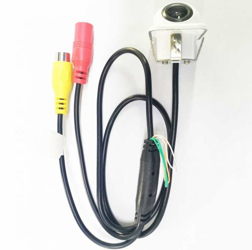 small straw hat rearview camera with 3 switches cuttable cable for parking guideline on/off, horizontal mirror on/off, vertical mirror on/off 4