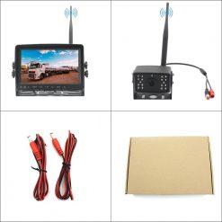 7 inch quad monitor wireless camera DVR for auto mobile truck Vehicle screen rear view monitor reverse backup recorder wifi camera 14