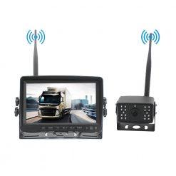 7 inch quad monitor wireless camera DVR for auto mobile truck Vehicle screen rear view monitor reverse backup recorder wifi camera 15