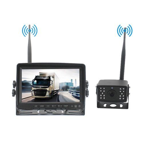 7 inch quad monitor wireless camera DVR for auto mobile truck Vehicle screen rear view monitor reverse backup recorder wifi camera 3