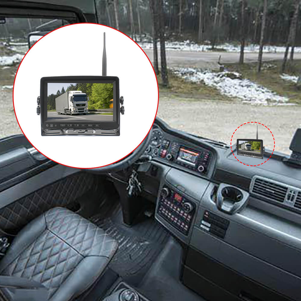 7 inch quad monitor wireless camera DVR for auto mobile truck Vehicle screen rear view monitor reverse backup recorder wifi camera 31