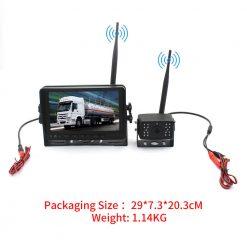 7 inch quad monitor wireless camera DVR for auto mobile truck Vehicle screen rear view monitor reverse backup recorder wifi camera 19