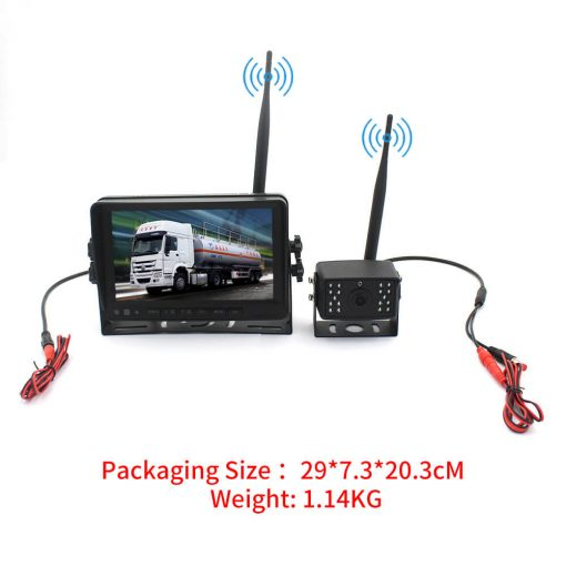 7 inch quad monitor wireless camera DVR for auto mobile truck Vehicle screen rear view monitor reverse backup recorder wifi camera 7