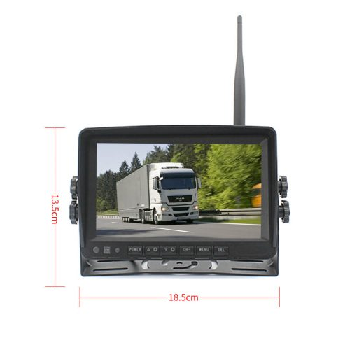 7 inch quad monitor wireless camera DVR for auto mobile truck Vehicle screen rear view monitor reverse backup recorder wifi camera 8