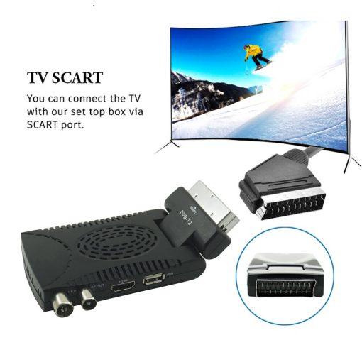 DVB-T2 H265 Scart TV Tuner Box Digital Terrestrial Receptor WIFI Receiver Youtube Set Top Box 1080P IPTV Box 4